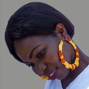 Earrings Only: African Ankara Earrings - 4